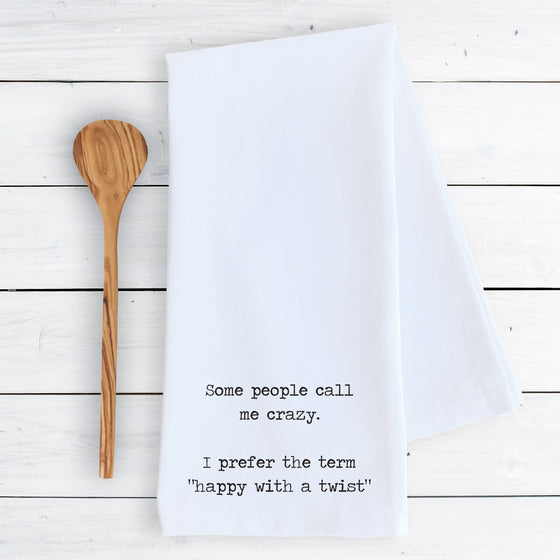 Devenie Designs - Happy With A Twist - Tea Towel
