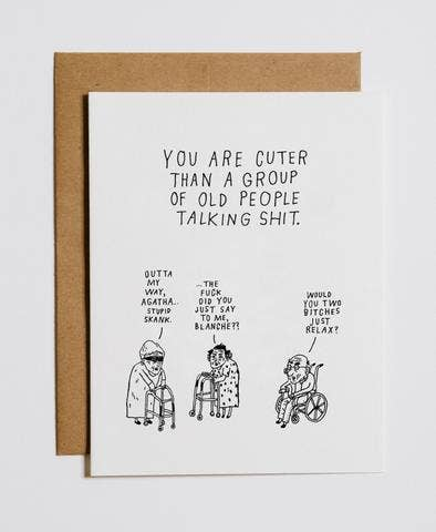Mountain vs Plains - Old People Talking Sh*t Greeting Card