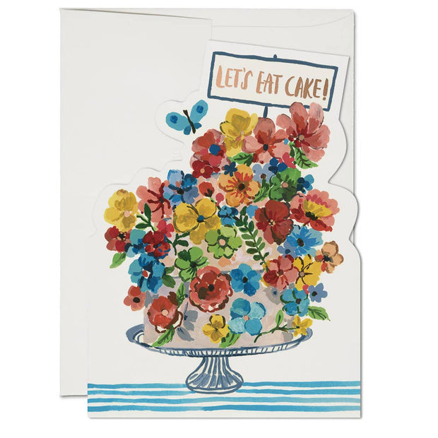 Red Cap Cards - Flower Cake
