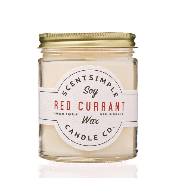 ScentSimple Candle Co. - Red Currant - Soy Wax Candle