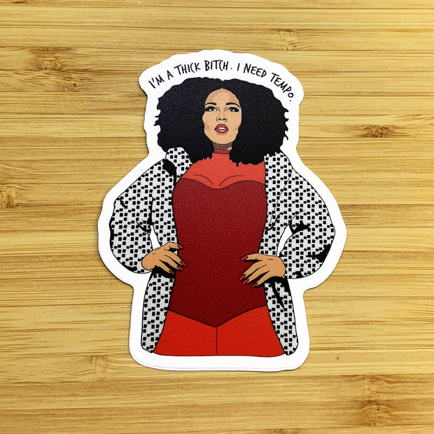 "Citizen Ruth - Lizzo ""I'm a thick bitch"" sticker"