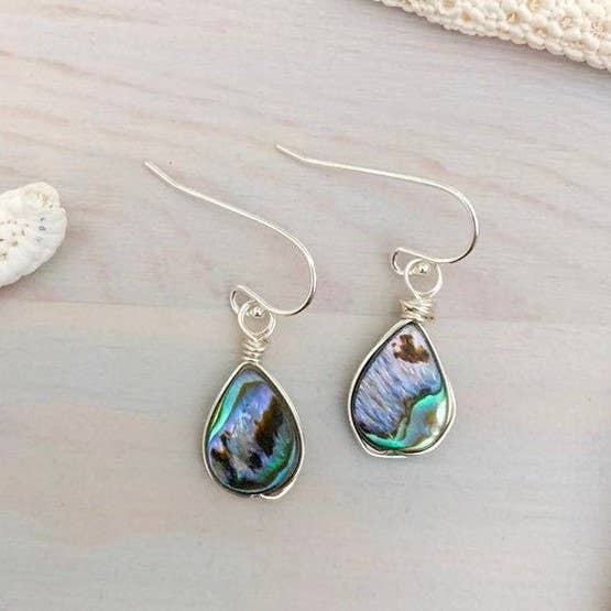 Lani Makana - Abalone Teardrop Earrings