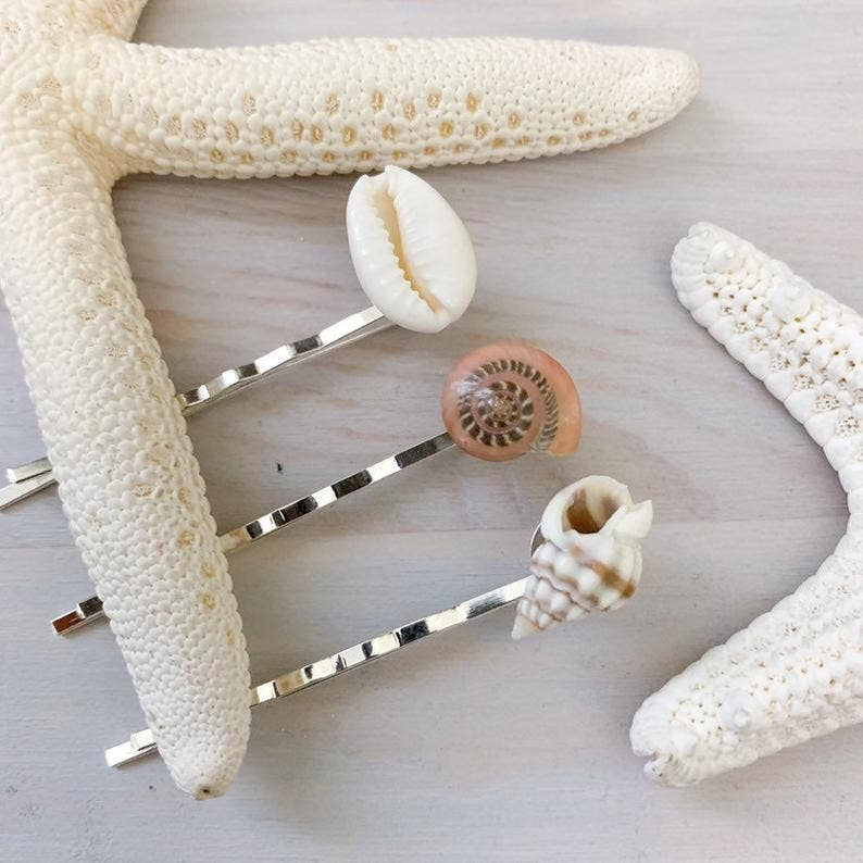 Lani Makana - Sea Shell Bobby Pin Set