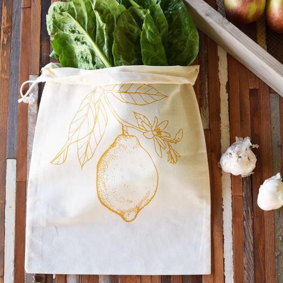 Oh, Little Rabbit - Lemon Produce Bag