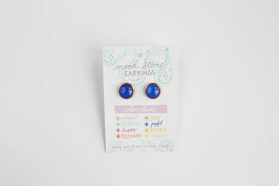 A Tea Leaf Jewelry - Changing Color Mood Stone Earrings