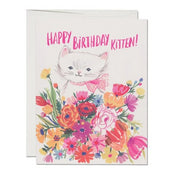 Red Cap Cards - Happy B-Day Kitten