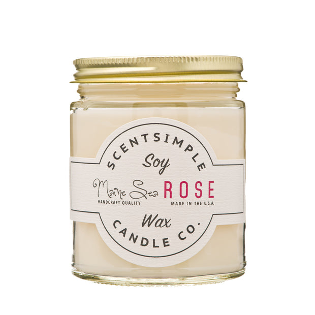 ScentSimple Candle Co. - Maine Sea Rose - Soy Wax Candle