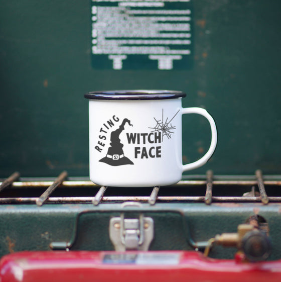Enamel Co. - Resting Witch Face Witchy Halloween Camp Mug