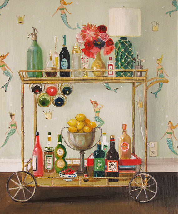 Janet Hill Studio - Barmaids Art Print - 8.5 X 11