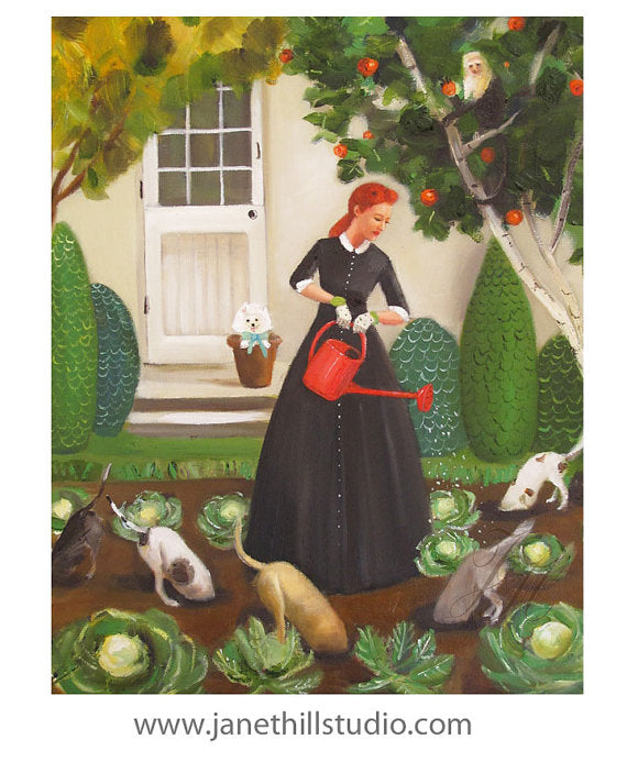 Janet Hill Studio - Miss Moon Lesson Eighteen Art Print - 8.5 X 11