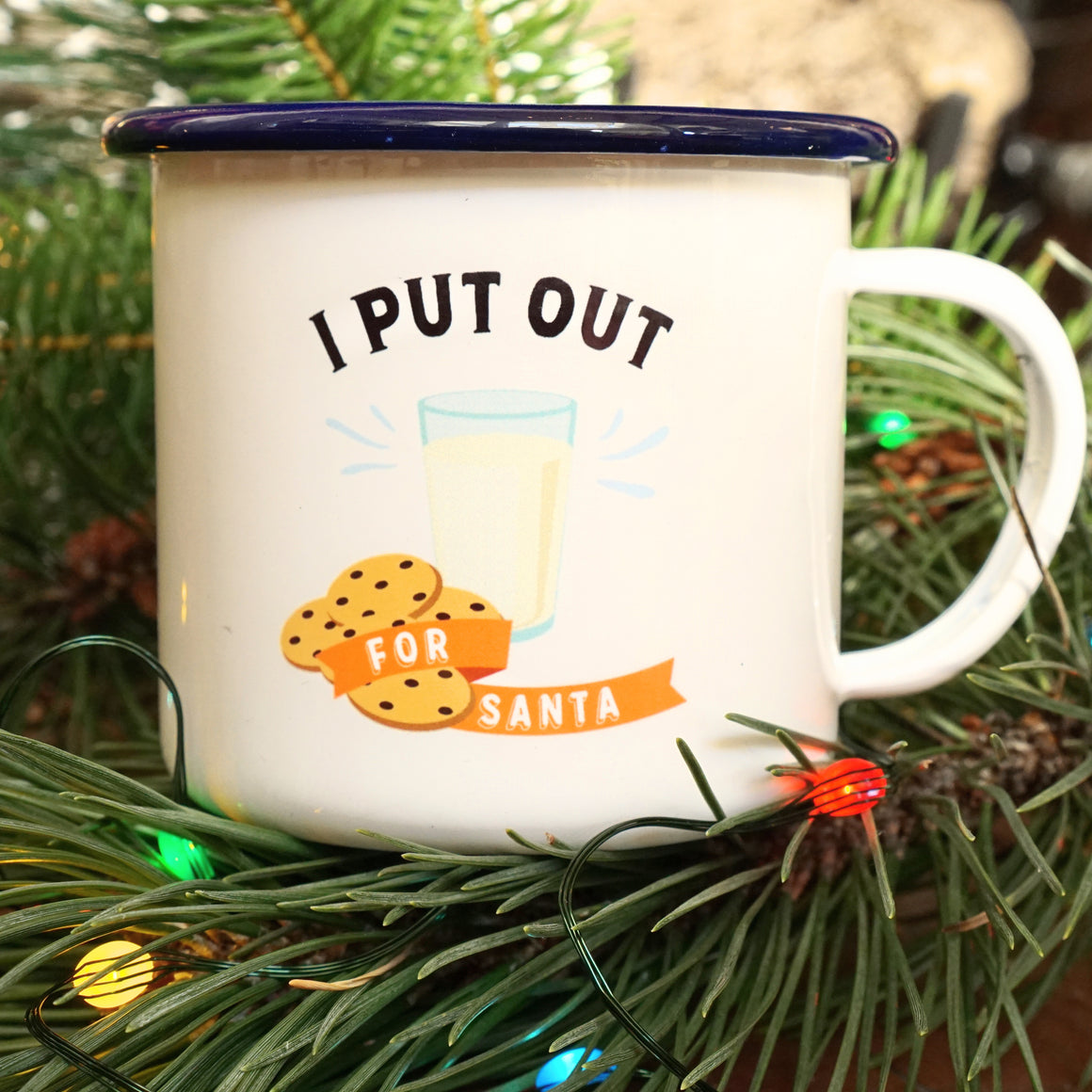 Enamel Co. - I Put Out for Santa - Funny Sexy Christmas Mug
