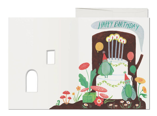 Red Cap Cards - Happy Birthday Log