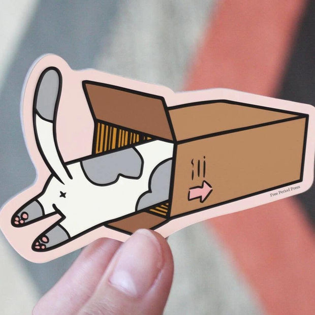 Free Period Press - Cat Box Vinyl Sticker