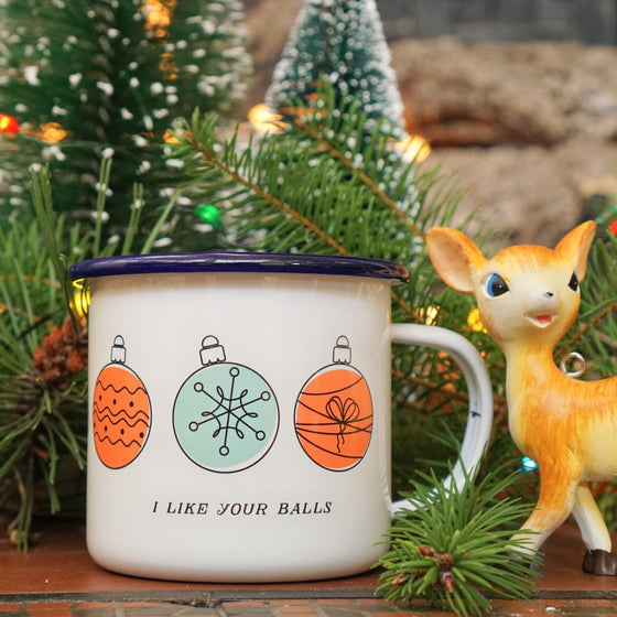 Enamel Co. - I Like Your Balls Funny Couples Christmas Mug