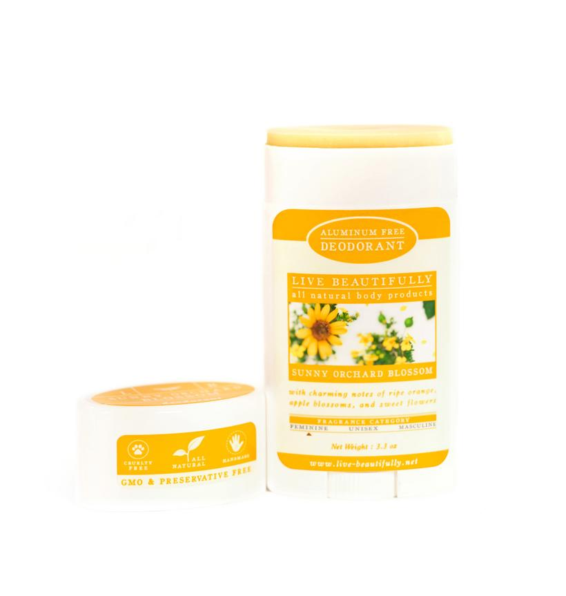 Live Beautifully - Sunny Orchard Blossom - Natural Deodorant - Aluminum Free
