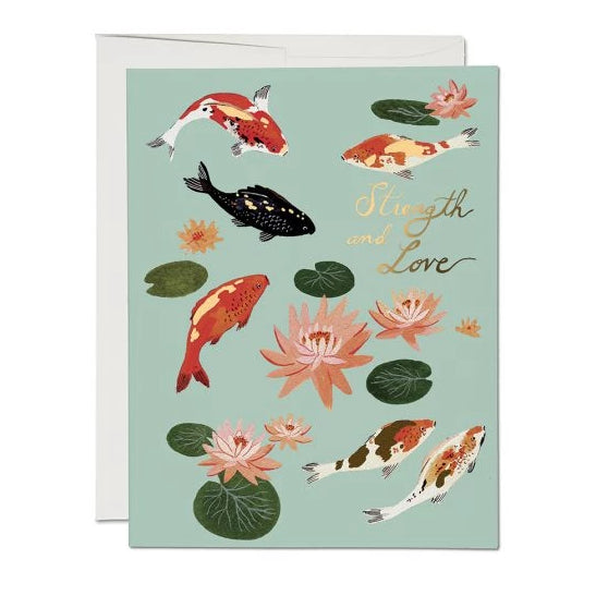 Red Cap Cards - Koi Fish