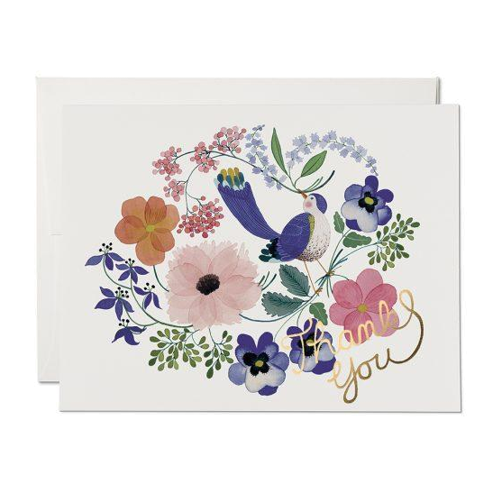 Red Cap Cards - Violet Birdy