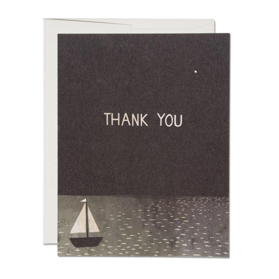 Red Cap Cards - Boat Thank You