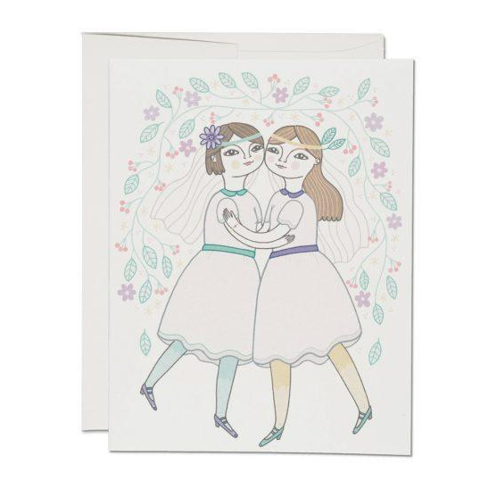 Red Cap Cards - Girl Wedding