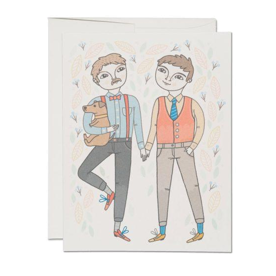 Red Cap Cards - Boy Wedding