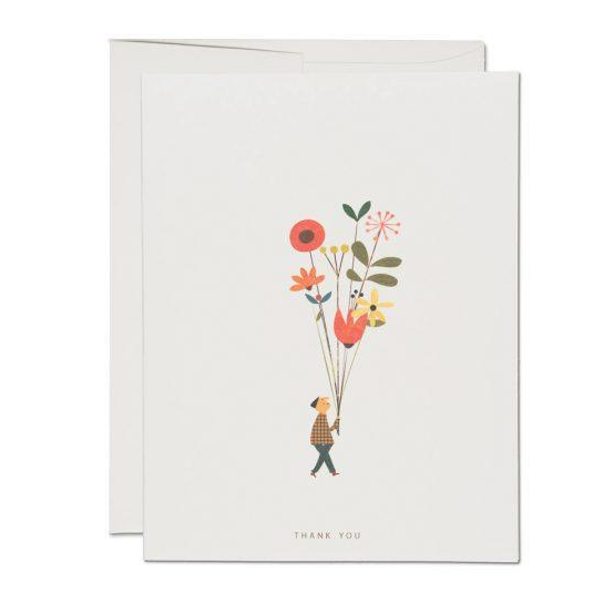 Red Cap Cards - Long Stem Thank You
