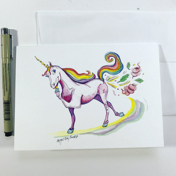 Unicorn Farts Card