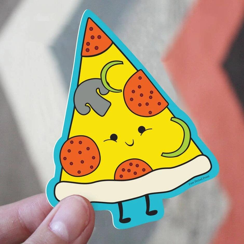 Free Period Press - Pizza Vinyl Sticker