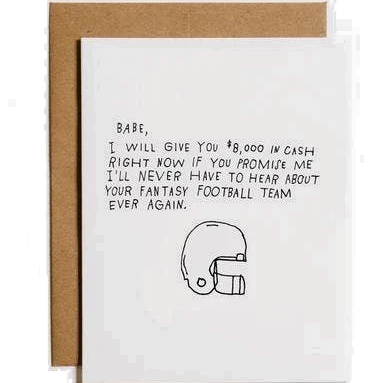 Mountain vs Plains - Fantasy Football Greeting Card
