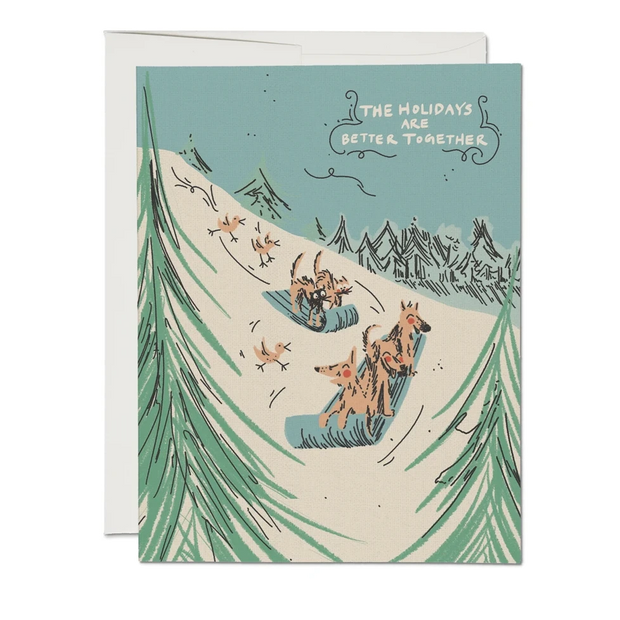 Red Cap Cards - Sled Dogs