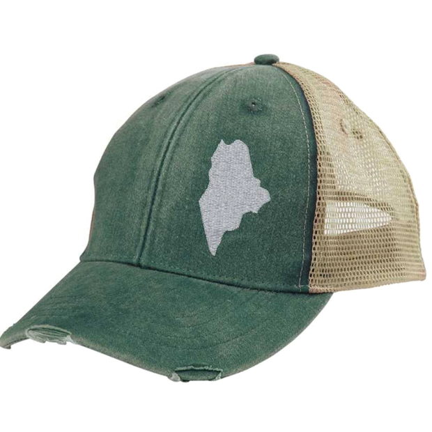 Gracie Designs - Off Center State Pride - Maine Hat