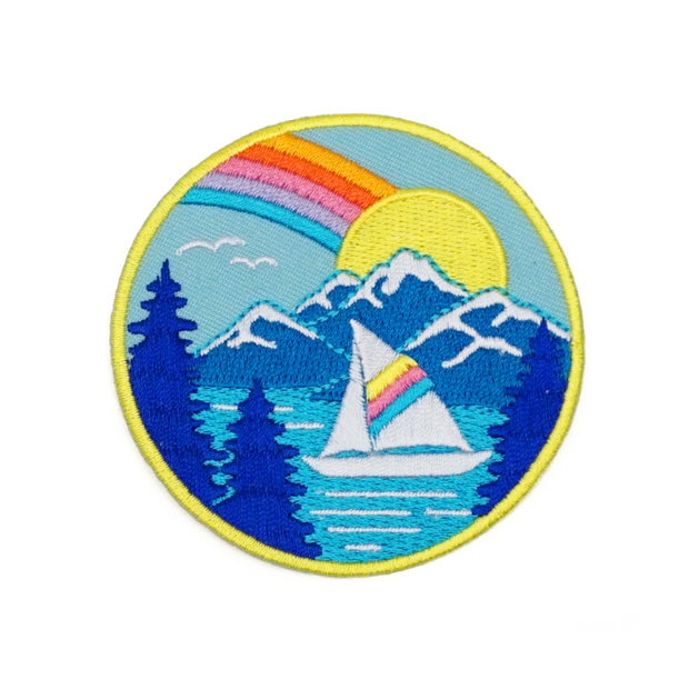 Rainbow Sailboat Patch