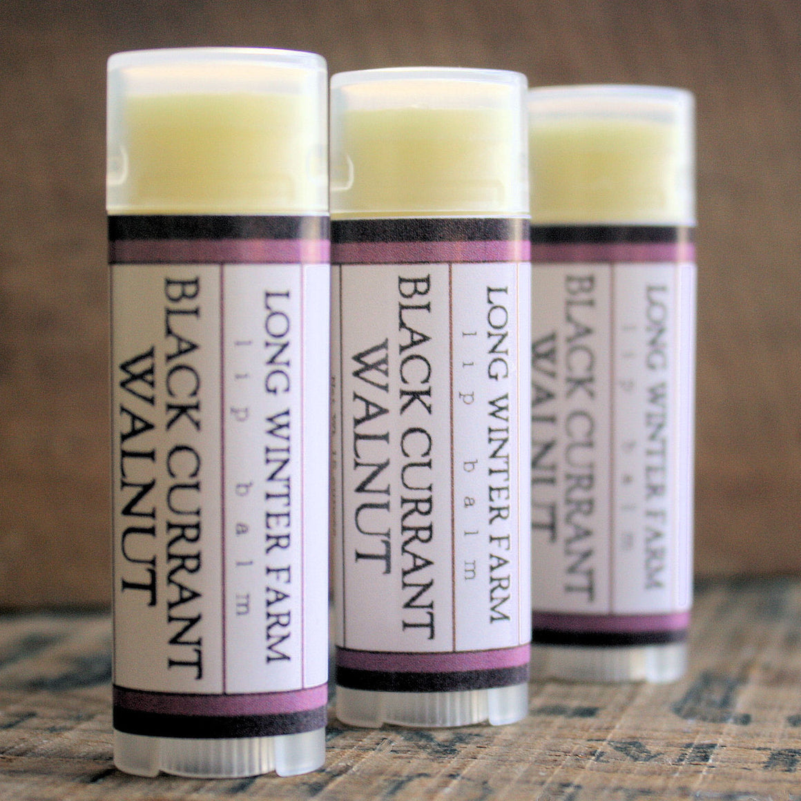 Black Currant Walnut Lip Balm