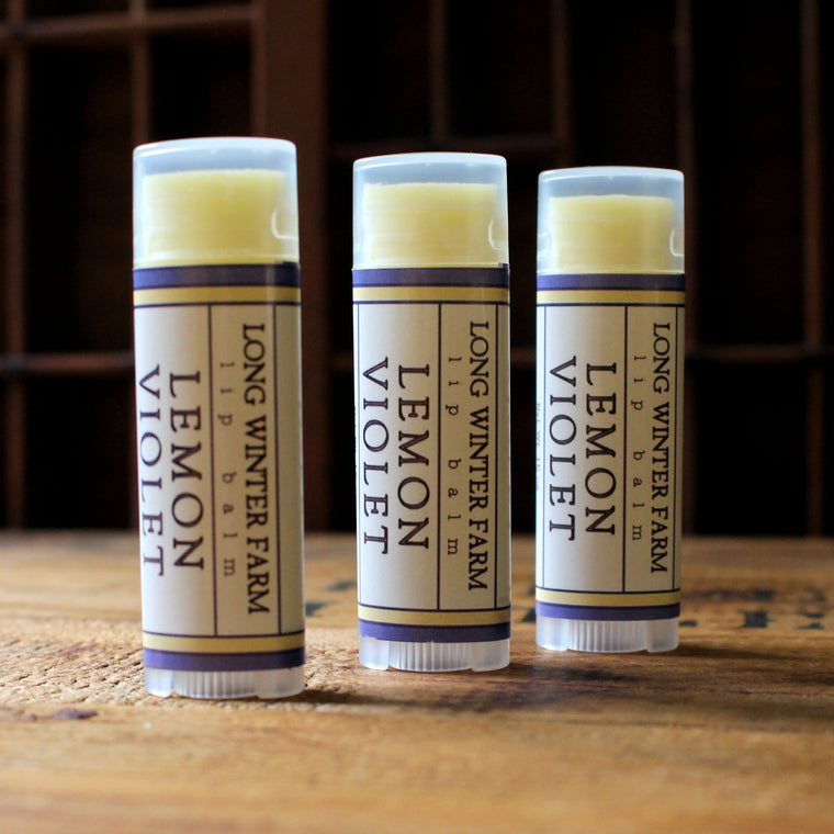 Lemon Violet Lip Balm