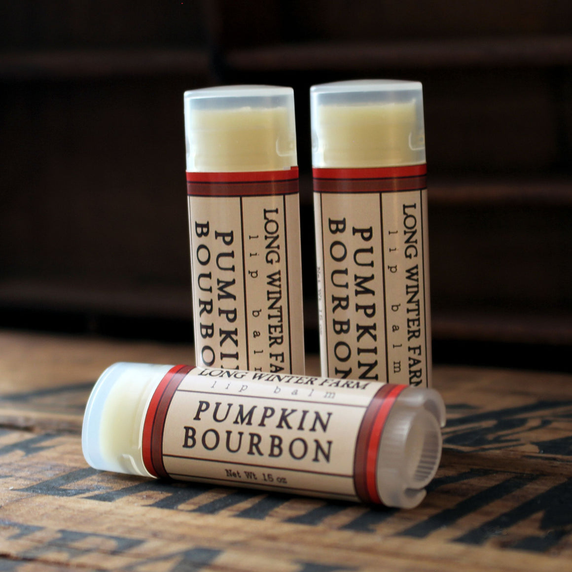Pumpkin Bourbon Lip Balm