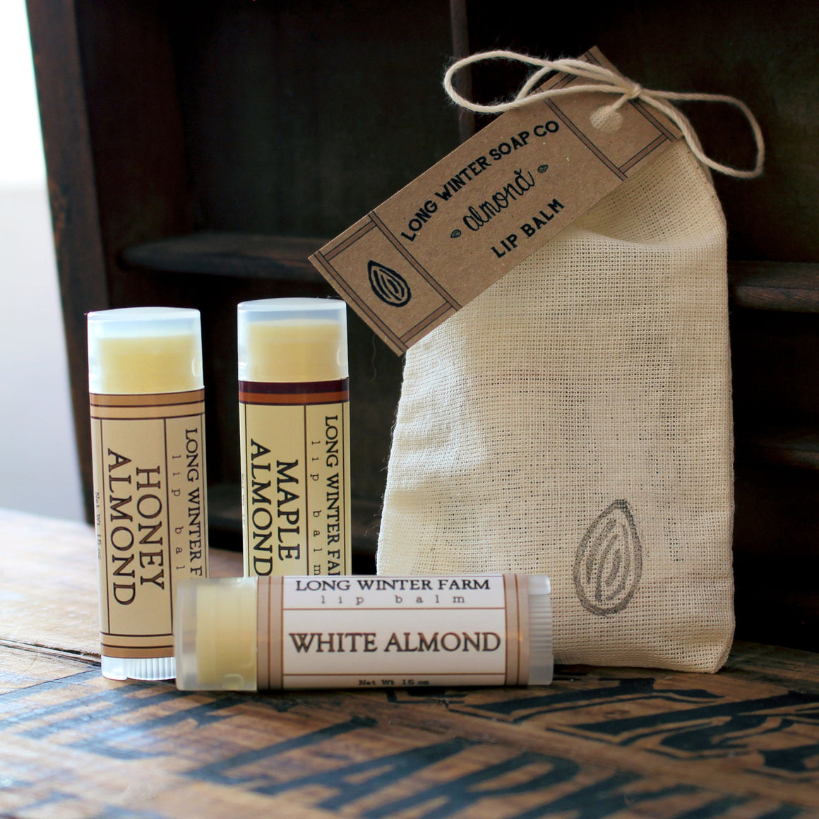 Almond Lip Balm Trio