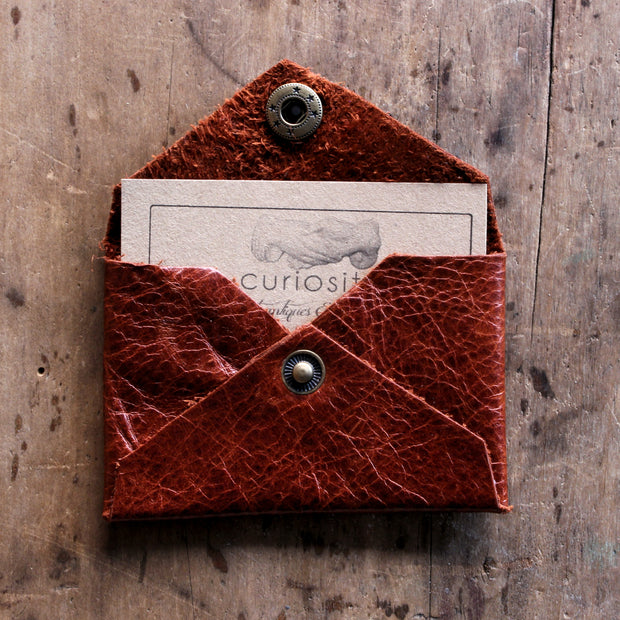 Reclaimed Leather Card Wallet