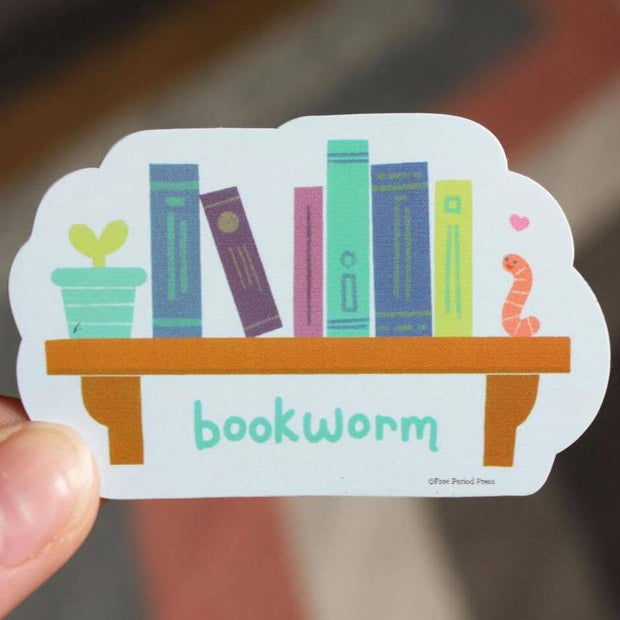 Free Period Press - Bookworm Vinyl Sticker