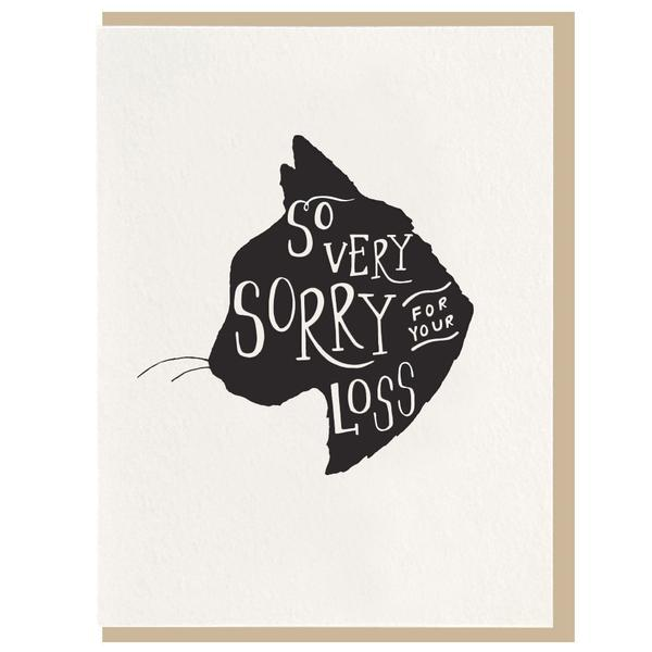 Dahlia Press - So Very Sorry Cat Sympathy Greeting Card