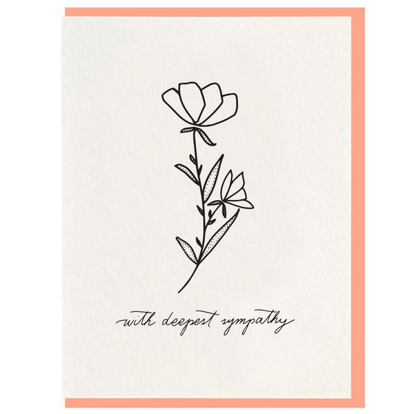 Dahlia Press - Deepest Sympathy Card