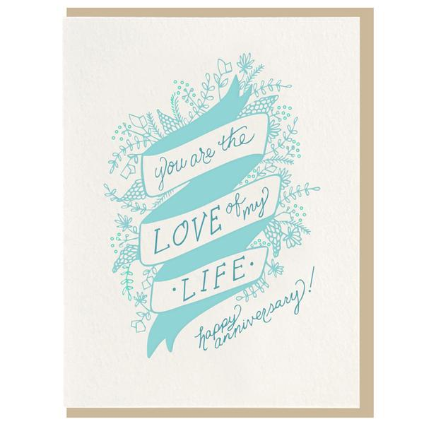 Dahlia Press - Love Of My Life Card