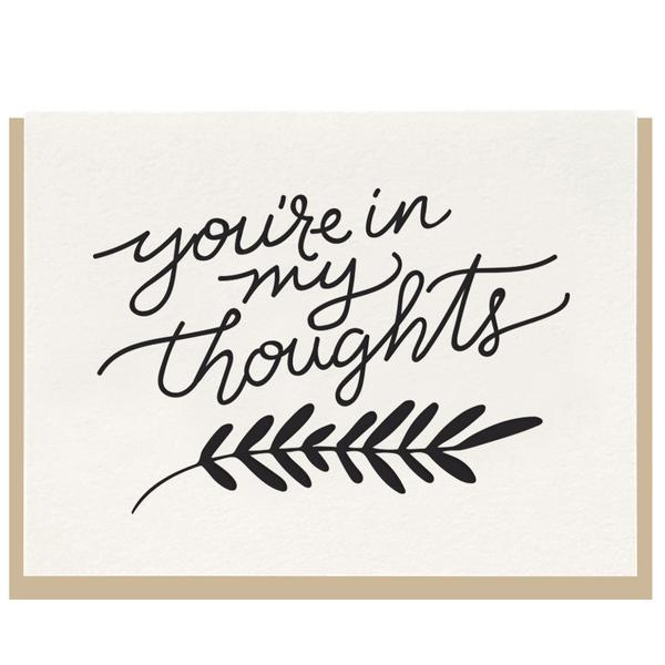 Dahlia Press - You're In My Thoughts Card