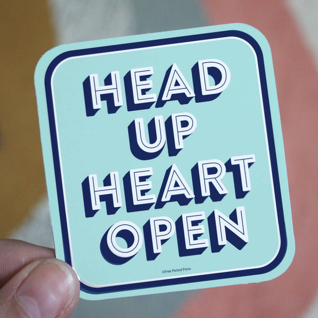 Free Period Press - Head Up Heart Open Vinyl Sticker