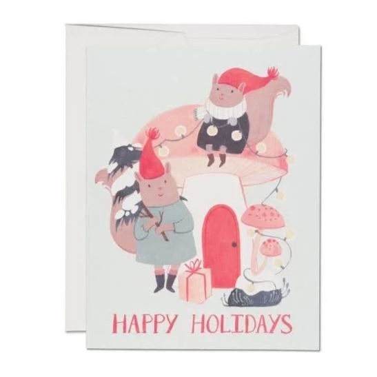 Red Cap Cards - Christmas Mushroom