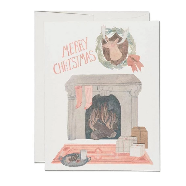 Red Cap Cards - Christmas Fireplace