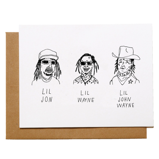 Mountain vs Plains - Lil John Wayne Greeting Card