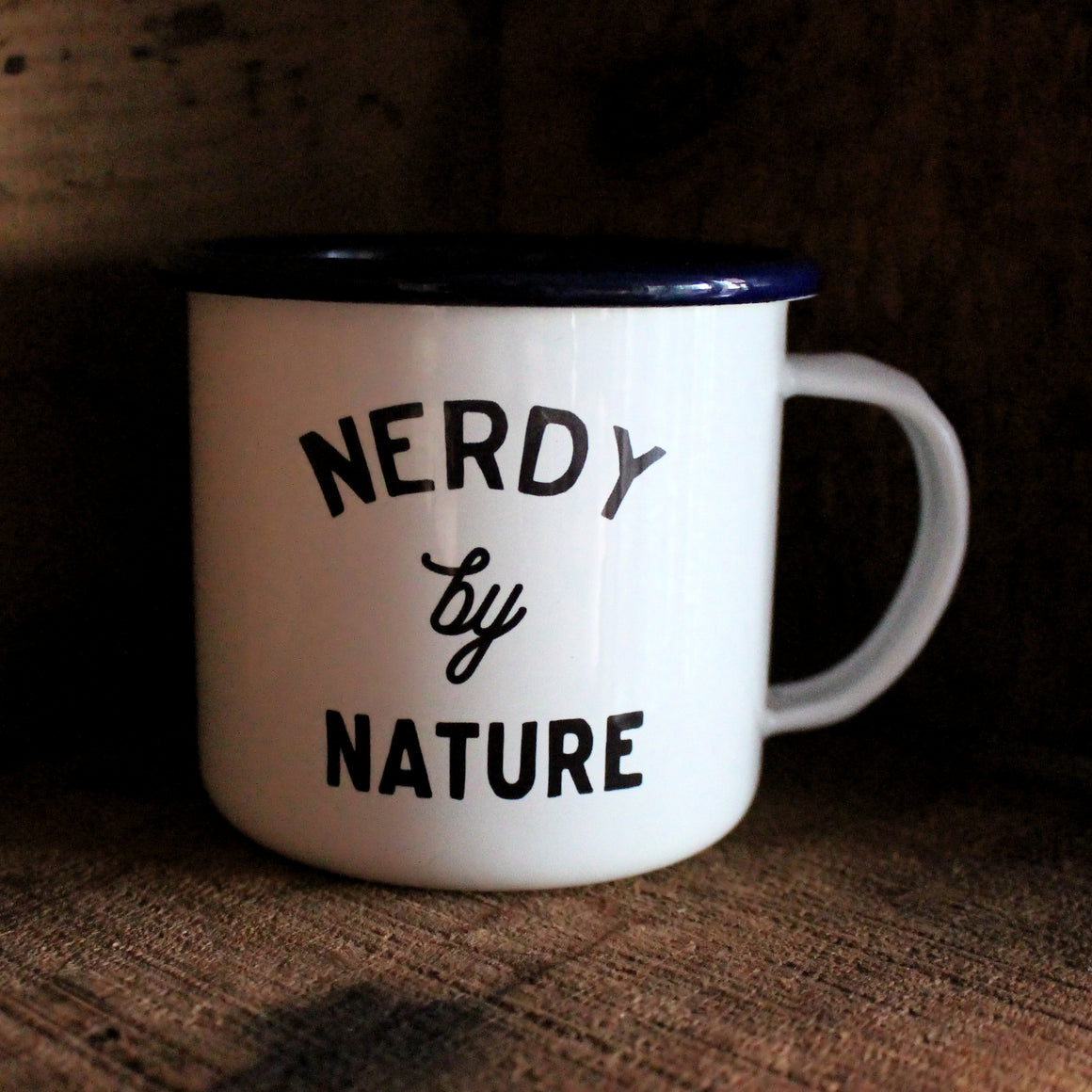 Nerdy by Nature Enamel Mug