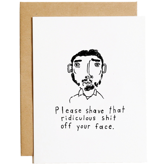 Mountain vs Plains - Please Shave Greeting Card