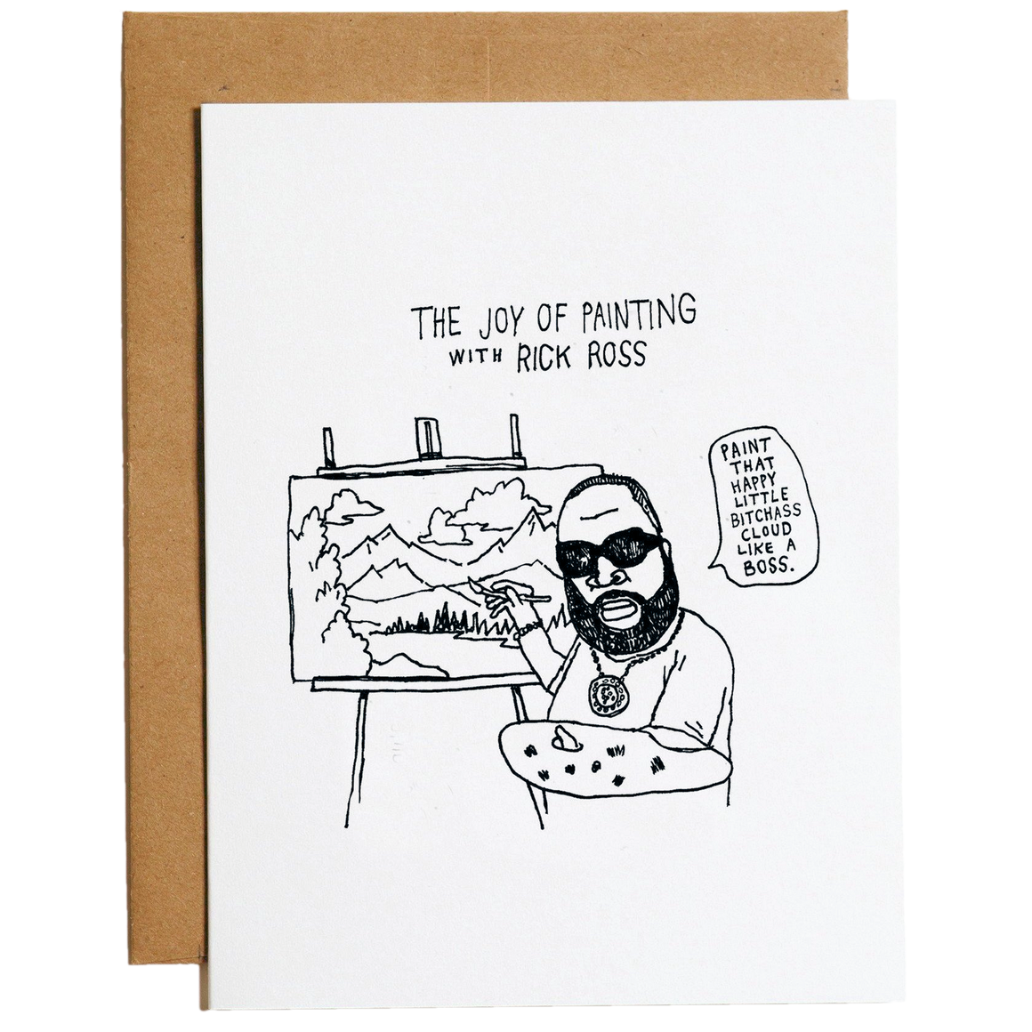 Mountain vs Plains - Rick Ross Greeting Card