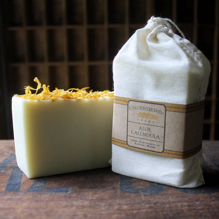 Aloe Calendula Unscented Cold Process Soap