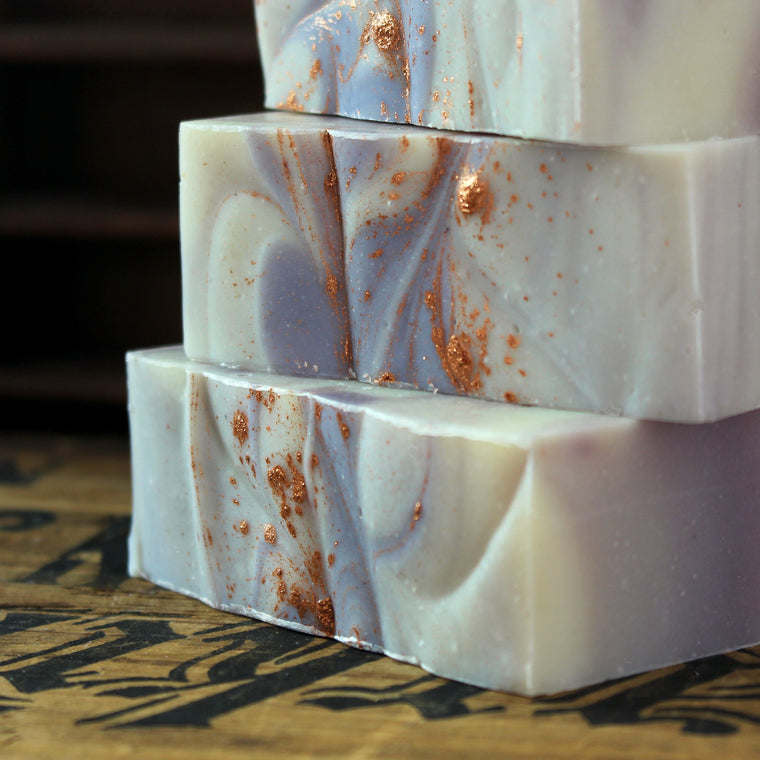 Amber Violet Cold Process Soap